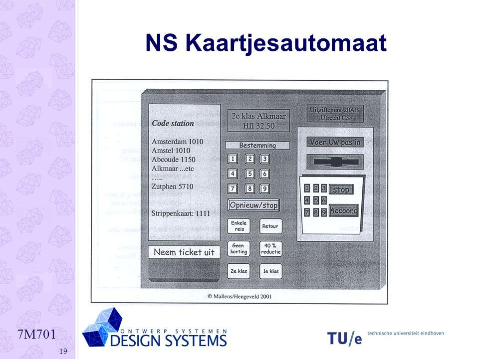 7M701 19 NS Kaartjesautomaat