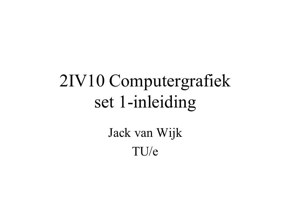 2IV10 Computergrafiek set 1-inleiding Jack van Wijk TU/e