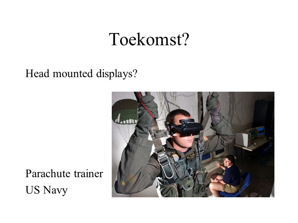 Toekomst Head mounted displays Parachute trainer US Navy