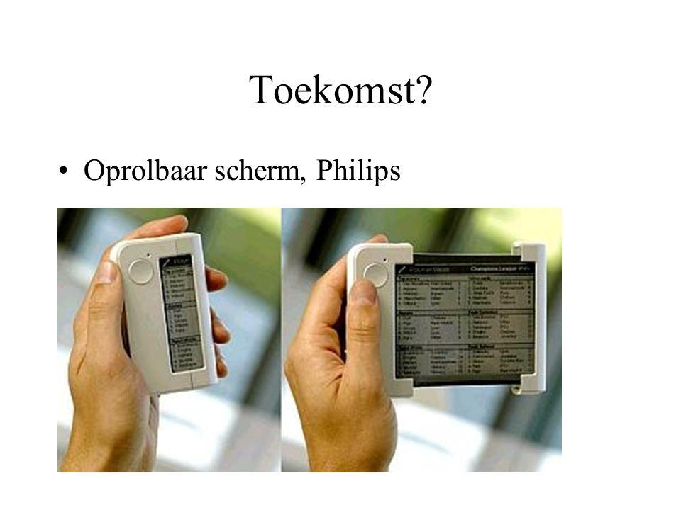 Toekomst Oprolbaar scherm, Philips