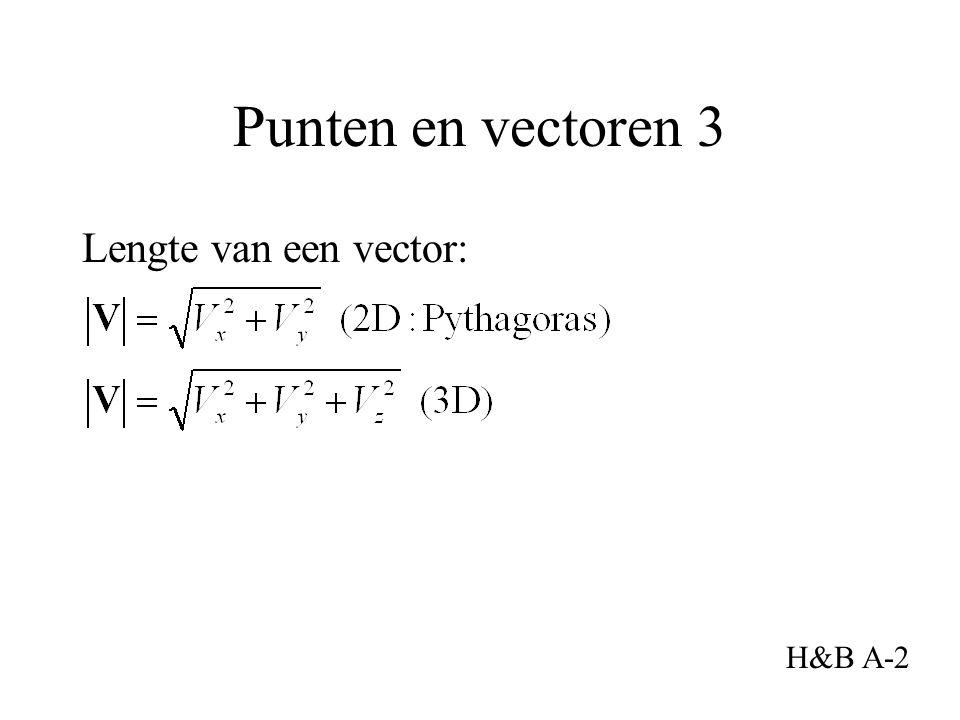 Lengte van een vector: Punten en vectoren 3 H&B A-2