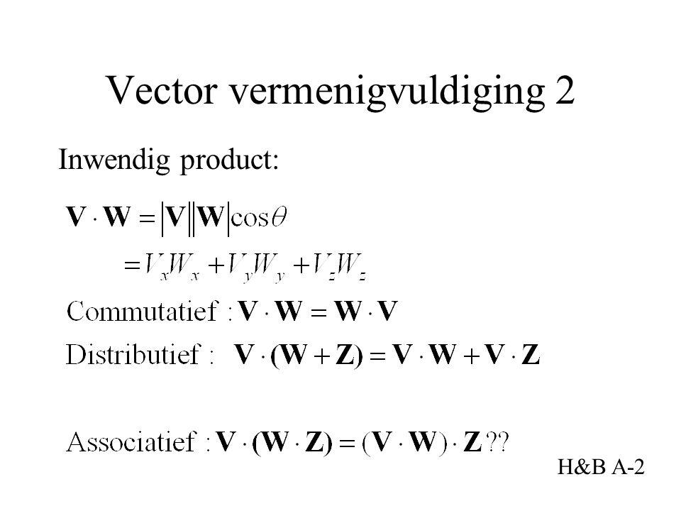 Inwendig product: Vector vermenigvuldiging 2 H&B A-2