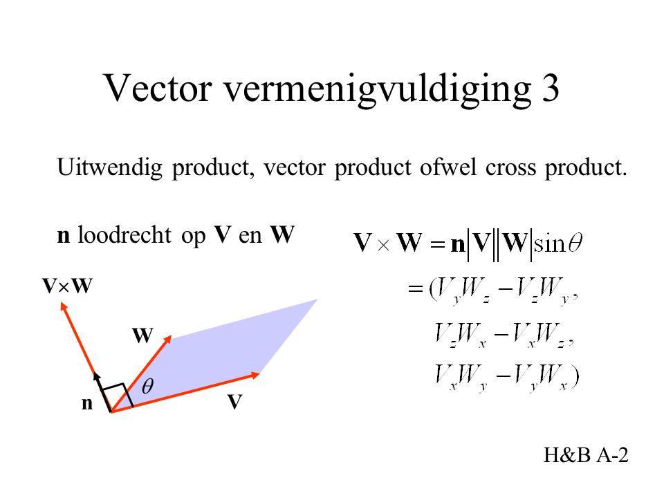 Uitwendig product, vector product ofwel cross product.
