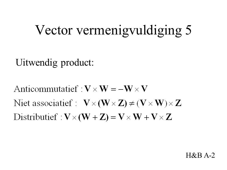Uitwendig product: Vector vermenigvuldiging 5 H&B A-2