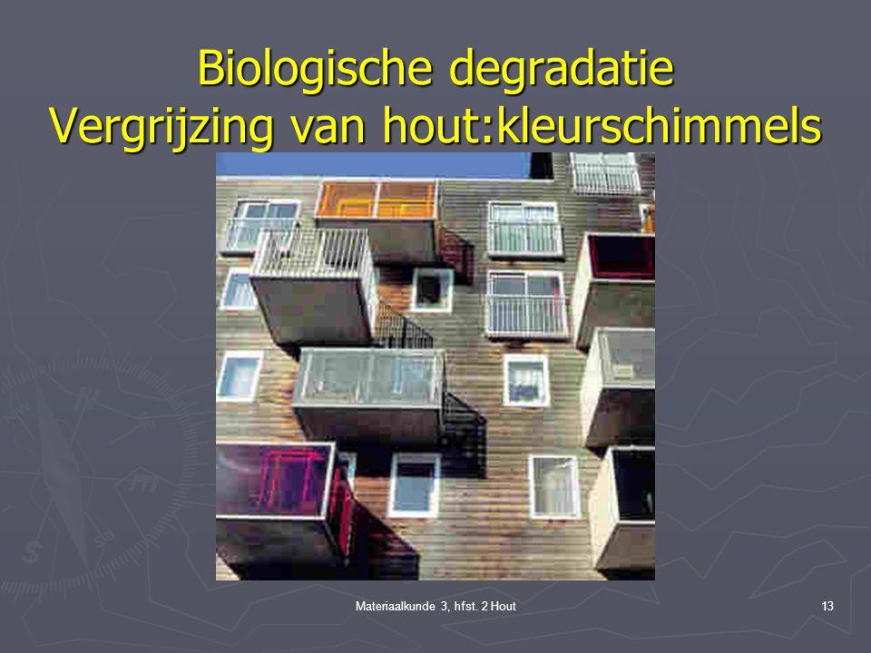 Materiaalkunde 3, hfst. 2 Hout12 Biologische degradatie (alleen binnen) ► Nathoutboorders ► Drooghoutboorders