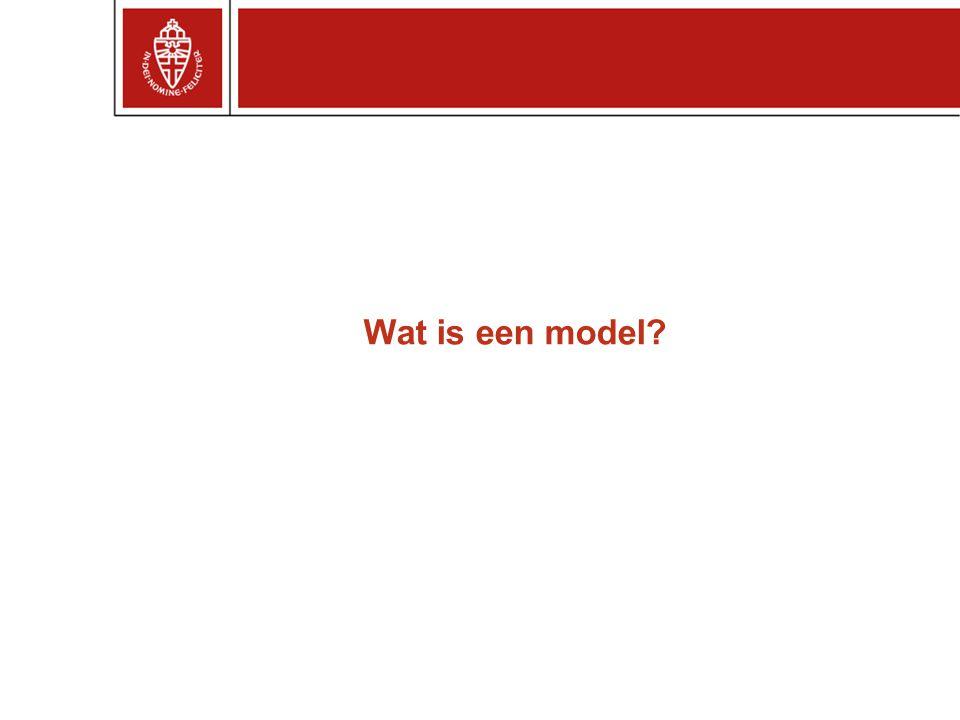 Wat is een model?