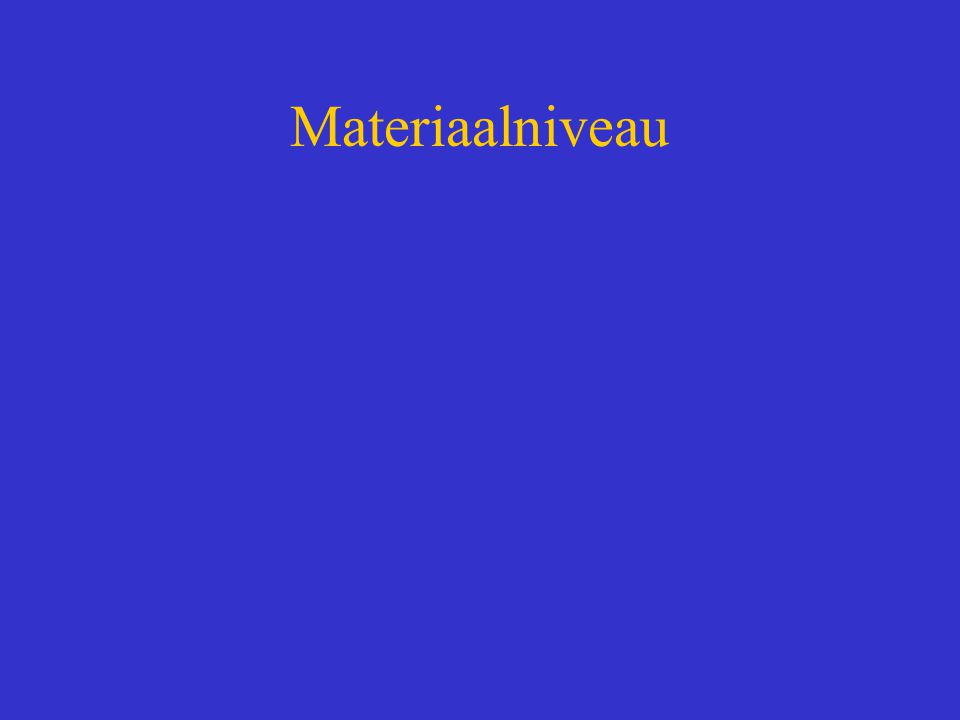 Materiaalniveau