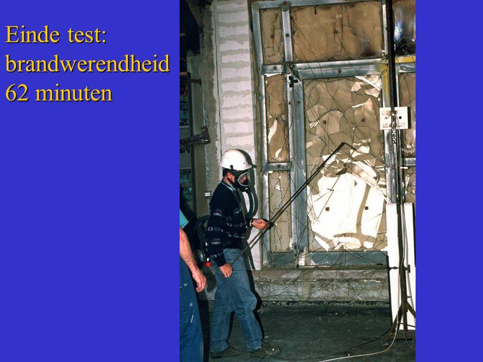 Einde test: brandwerendheid 62 minuten