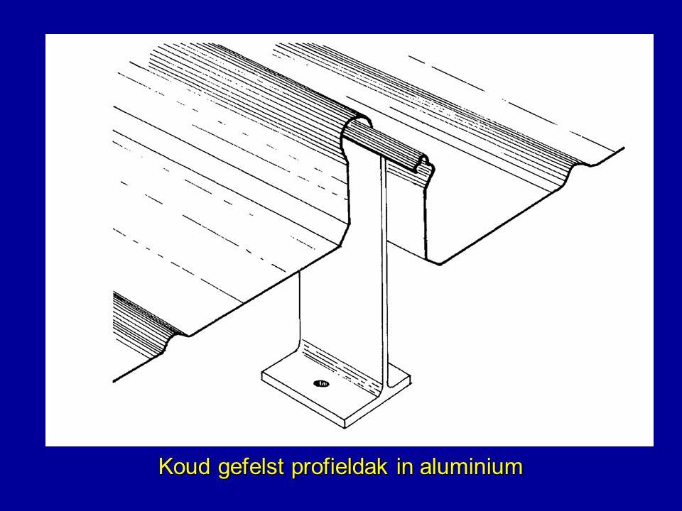 Koud gefelst profieldak in aluminium