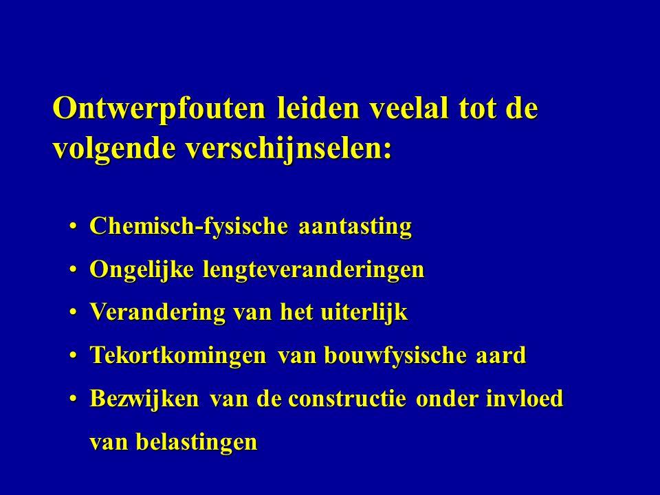 Voorbeelden schade aan metselwerk door vorst, zout en vervuiling