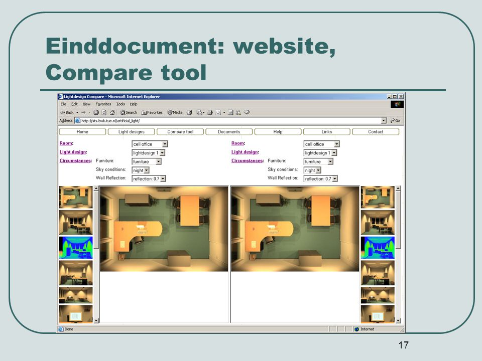 17 Einddocument: website, Compare tool