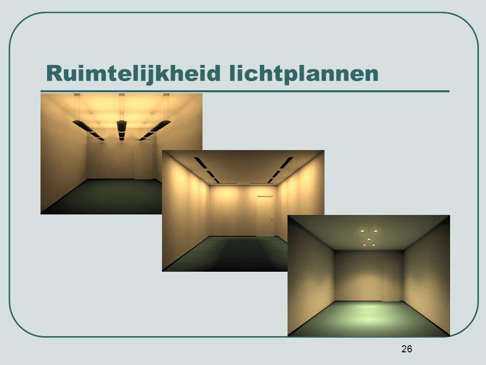 26 Ruimtelijkheid lichtplannen