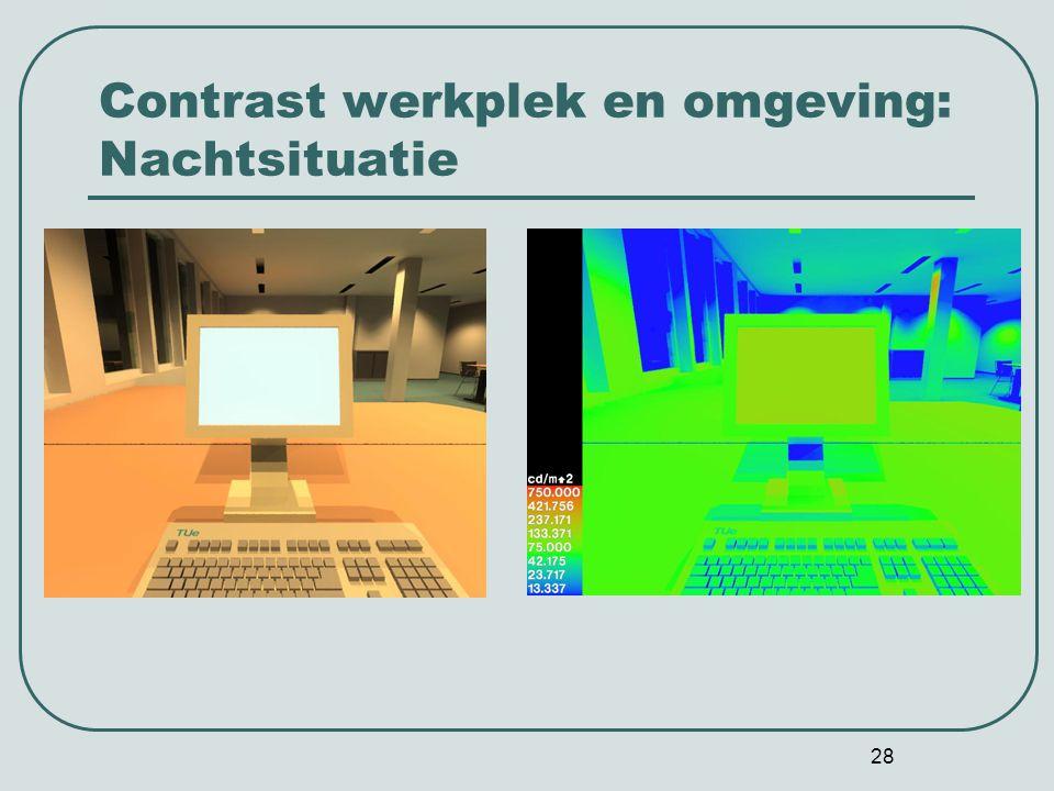 28 Contrast werkplek en omgeving: Nachtsituatie