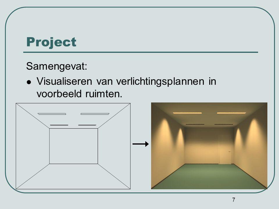 7 Project Samengevat: Visualiseren van verlichtingsplannen in voorbeeld ruimten.