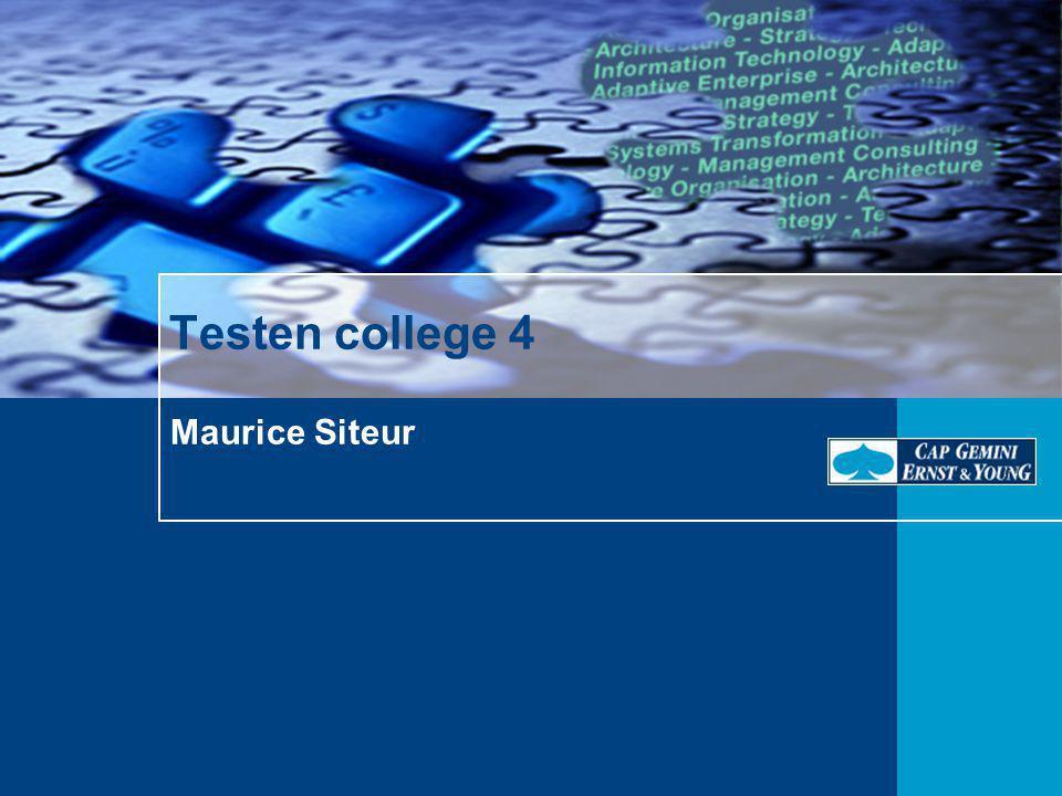 Maurice Siteur Testen college 4