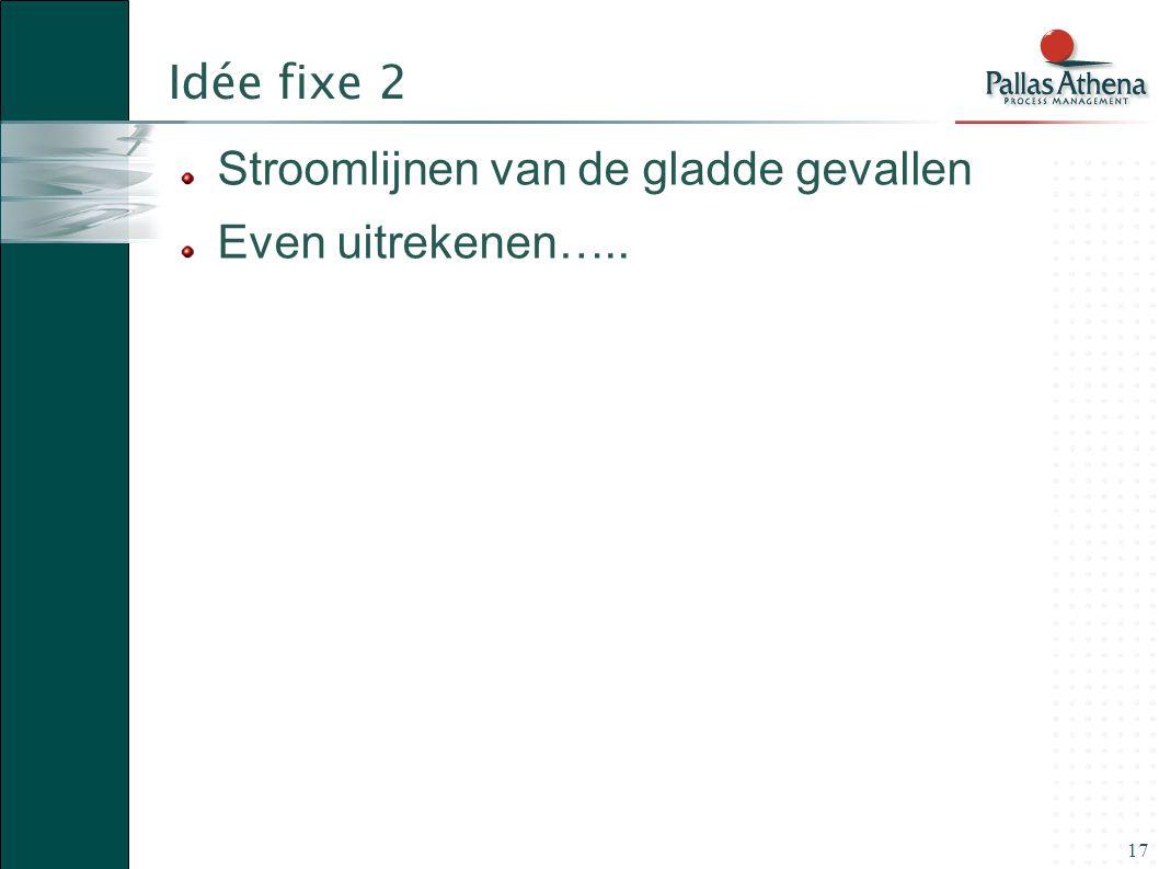 17 Idée fixe 2 Stroomlijnen van de gladde gevallen Even uitrekenen…..