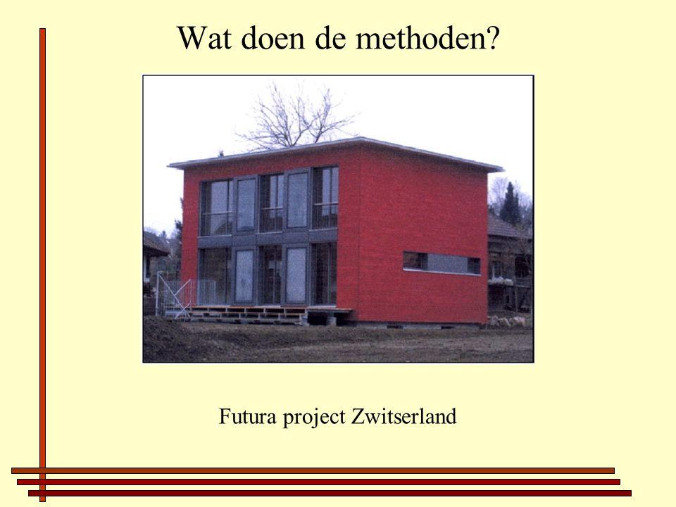 Wat doen de methoden? Futura project Zwitserland