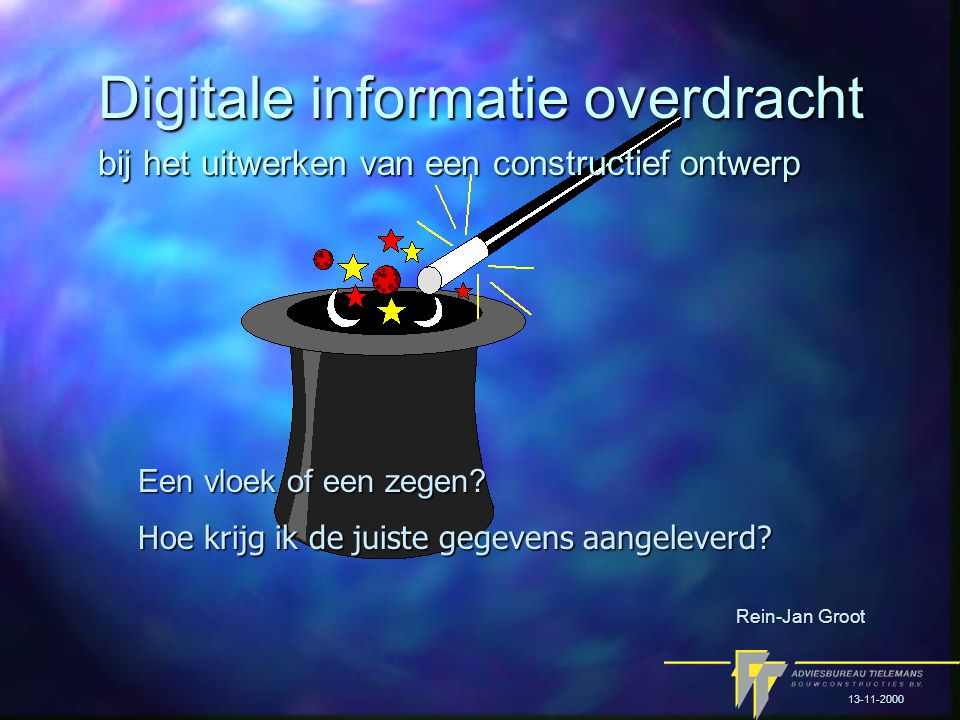 Digitale informatie overdracht Een vloek of een zegen.