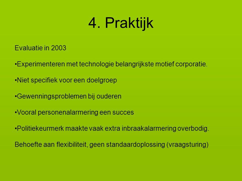 Evaluatie in 2003 Experimenteren met technologie belangrijkste motief corporatie.