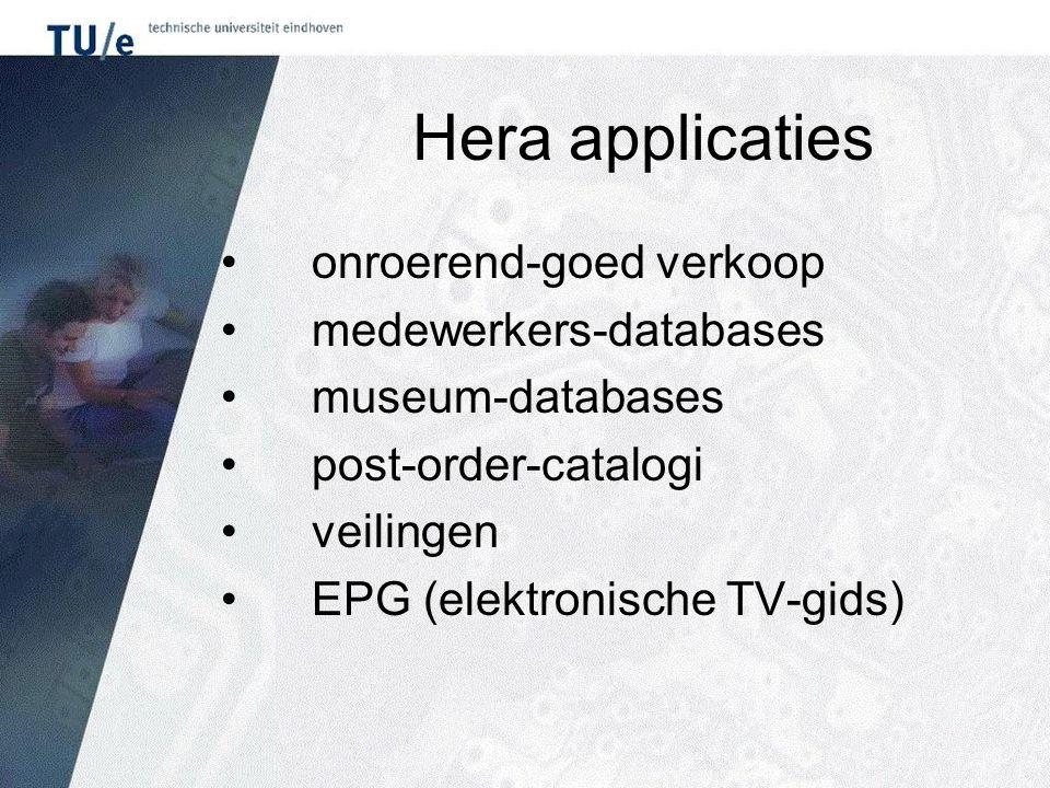 Hera applicaties onroerend-goed verkoop medewerkers-databases museum-databases post-order-catalogi veilingen EPG (elektronische TV-gids)