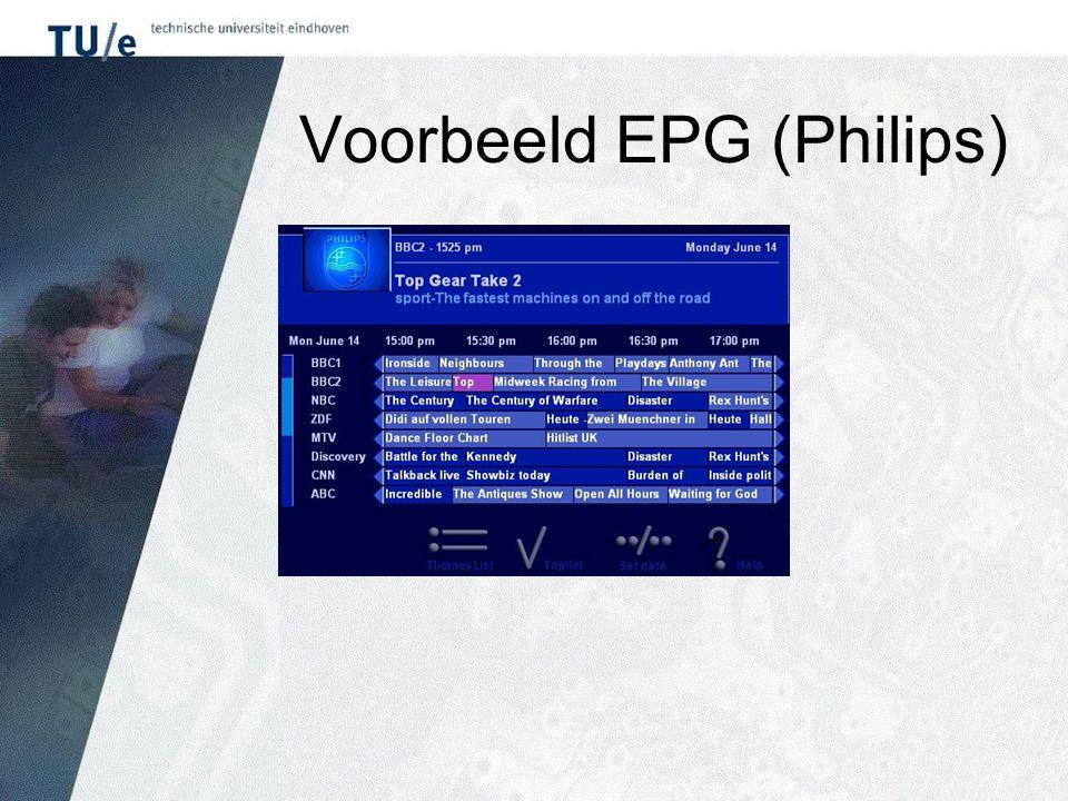 Voorbeeld EPG (Philips)