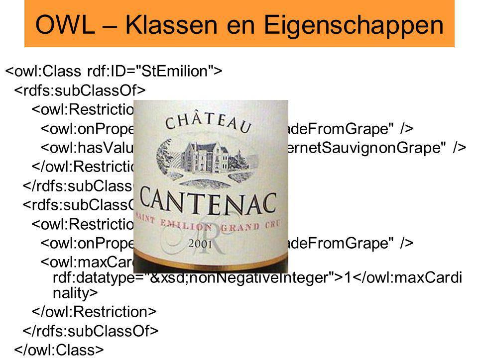 Kennis- voorstelling OWLEOLRedeneren met EOL 1 OWL – Klassen en Eigenschappen