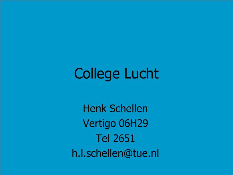 College Lucht Henk Schellen Vertigo 06H29 Tel 2651 h.l.schellen@tue.nl