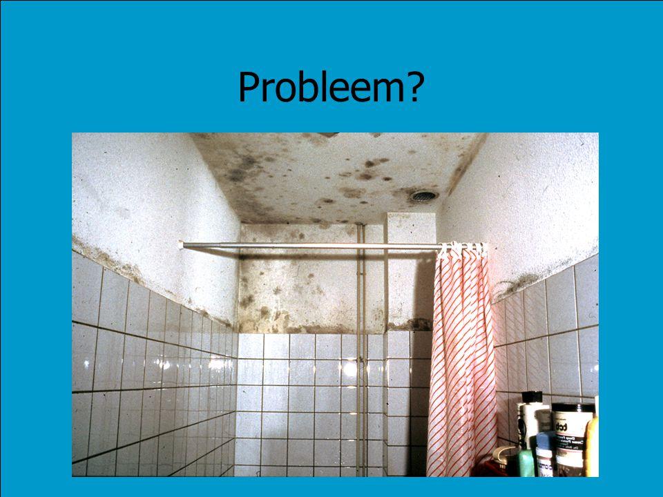 Bronnen van vervuiling Mens –Ademen: waterdamp en CO 2 –Transpiratiegeur Woonactiviteiten –Wassen –Koken –Toilet- en badkamergebruik Schoonmaakartikelen, chemicaliën, verbrandingstoestellen, installaties Bouw- en isolatiematerialen –Radon, formaldehydegas, asbest