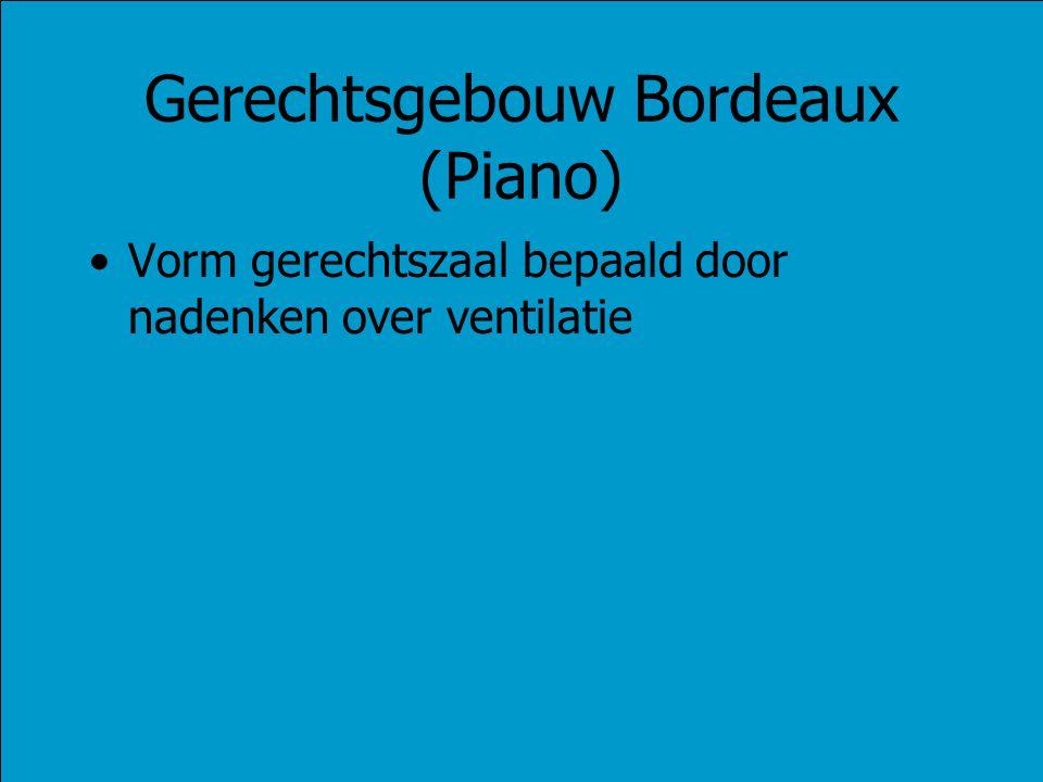 Gerechtsgebouw Bordeaux (Piano) Vorm gerechtszaal bepaald door nadenken over ventilatie