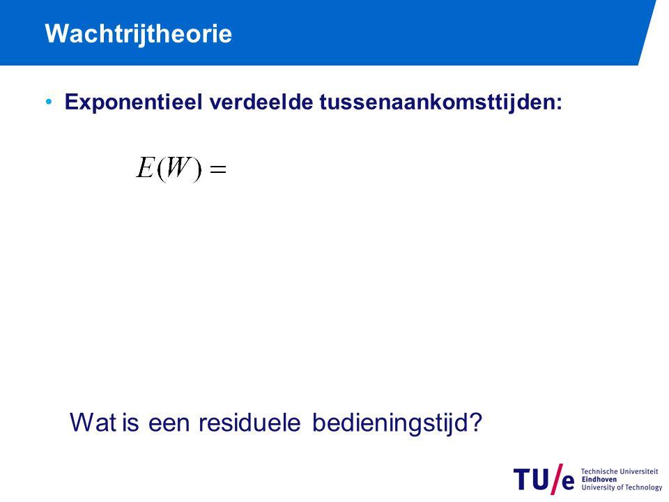 Wachtrijtheorie Exponentieel verdeelde tussenaankomsttijden: Wat is een residuele bedieningstijd?
