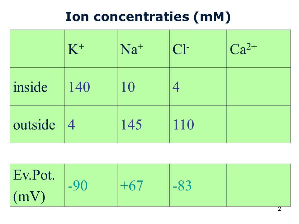 Cardiovascular Research Institute Maastricht (CARIM) 13 Hodgkin-Huxley vergelijkingen Potentiaal V representeert de afwijking van de rustpotential, dus V mem = V rest + V Steady-state waarde en tijdconstante van gating variabelen worden bepaald m.b.v.