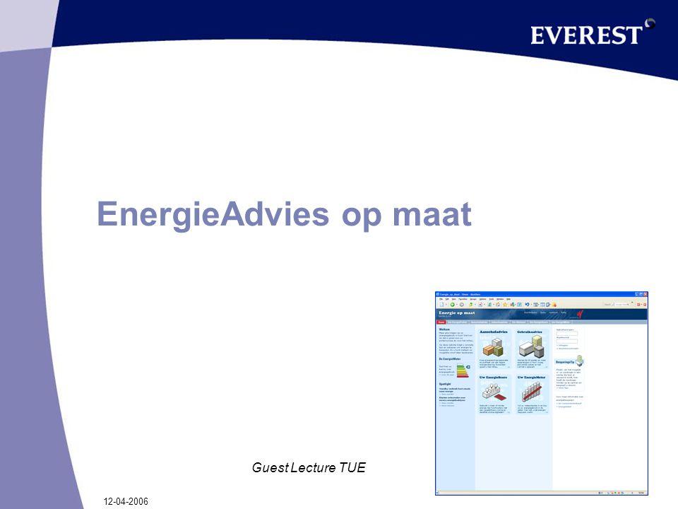 12-04-2006 Guest Lecture TUE EnergieAdvies op maat