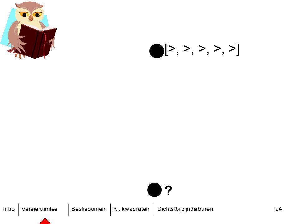 IntroVersieruimtesBeslisbomenKl. kwadratenDichtstbijzijnde buren24 [>, >, >, >, >]