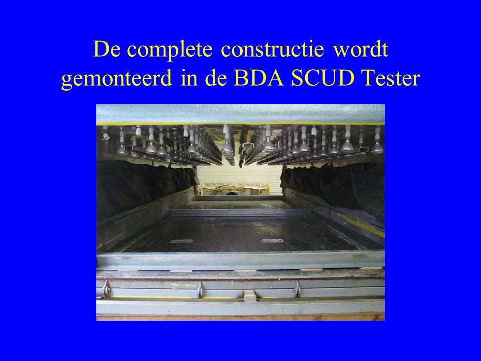 De complete constructie wordt gemonteerd in de BDA SCUD Tester