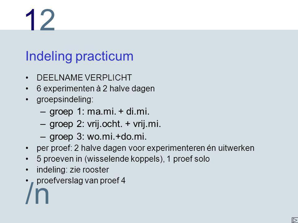 1212 /n Foutenberekening Fout (onzekerheid) in hoogtemeting =  h = 0.5 mm h 1 = (25.50  0.05) cm minimaal h 1 = 25.45 cm maximaal h 1 = 25.55 cm h 0 = (25.00  0.05) cm minimaal h 0 = 24.95 cm maximaal h 0 = 25.05 cm h1  h0h1  h0 minimaal 25.45  25.05 = 0.40 cm maximaal 25.55  24.95 = 0.60 cm  h 1  h 0 = (0.5  0.1) cm