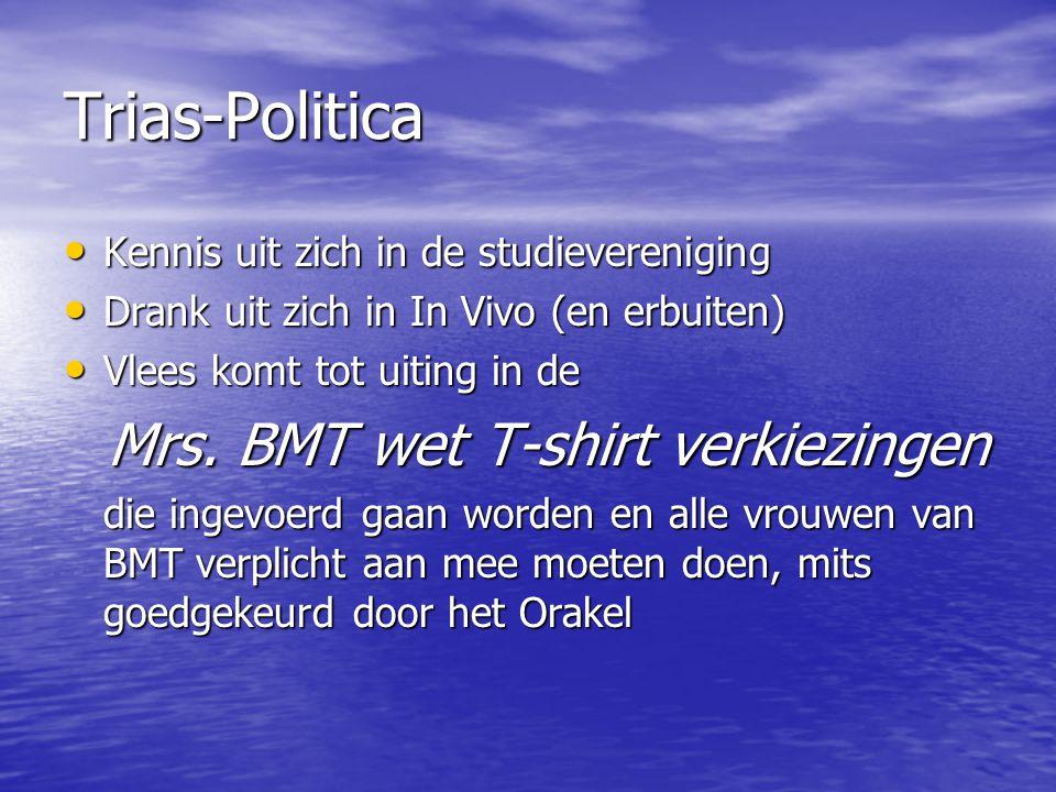 Trias-Politica Kennis uit zich in de studievereniging Kennis uit zich in de studievereniging Drank uit zich in In Vivo (en erbuiten) Drank uit zich in