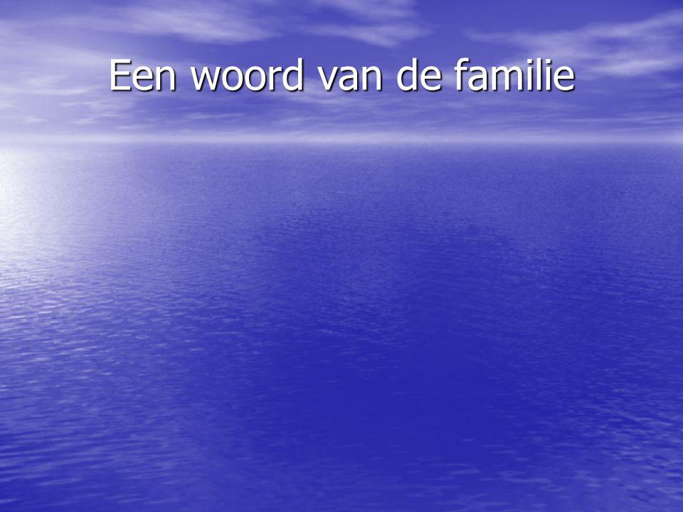 Een woord van de familie