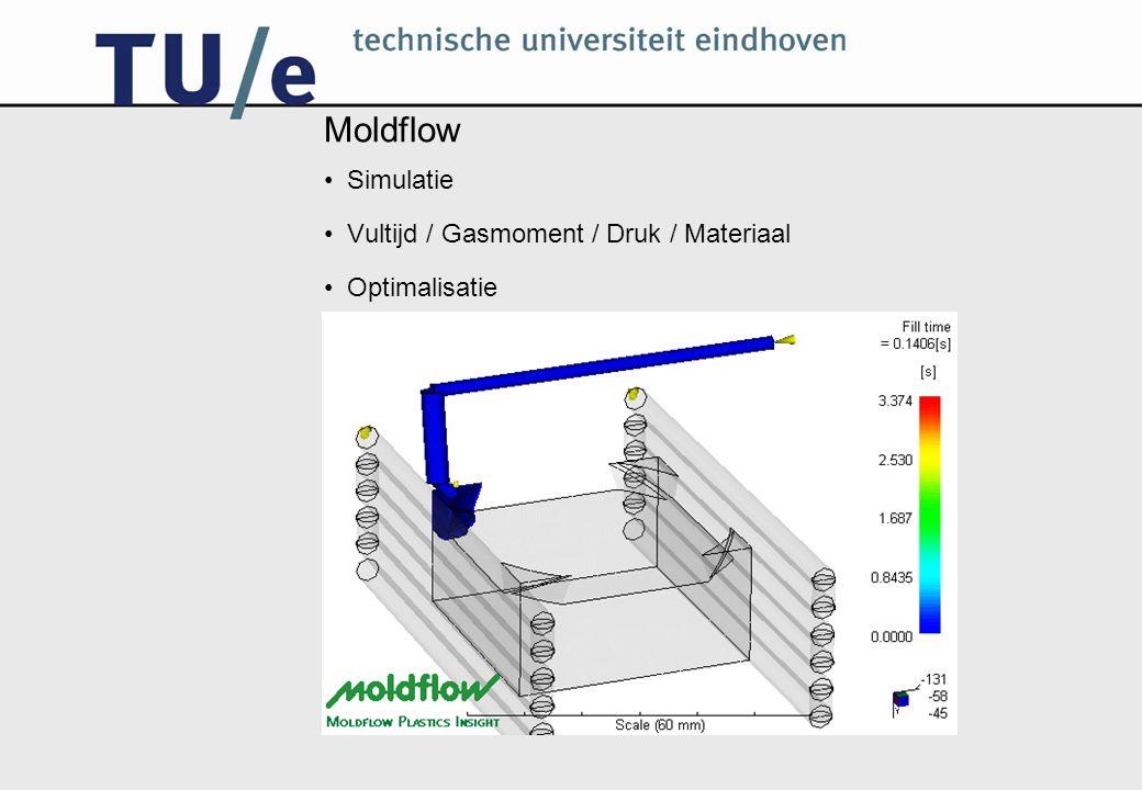 Moldflow Simulatie Vultijd / Gasmoment / Druk / Materiaal Optimalisatie