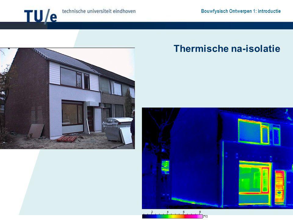 Bouwfysisch Ontwerpen 1: introductie Thermische na-isolatie