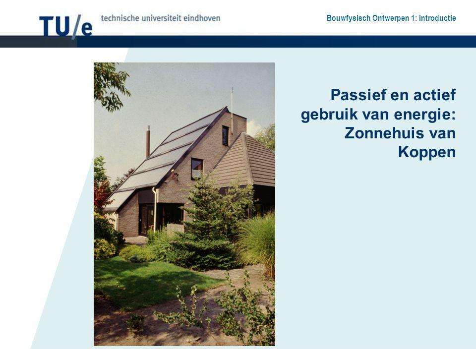 Bouwfysisch Ontwerpen 1: introductie Passief en actief gebruik van energie: Zonnehuis van Koppen