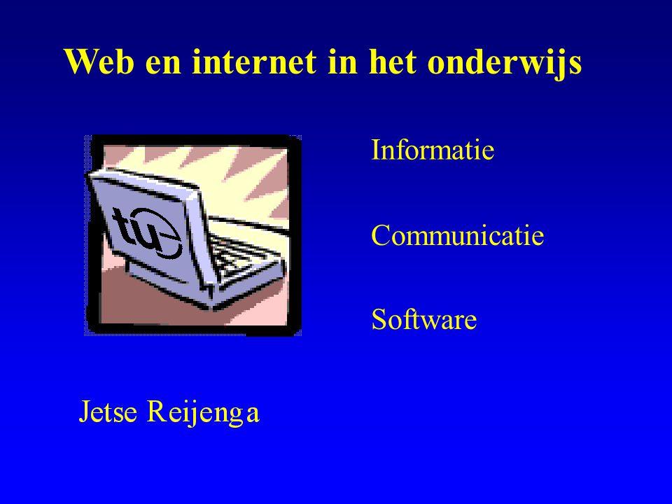 Informatie Communicatie Software Web en internet in het onderwijs