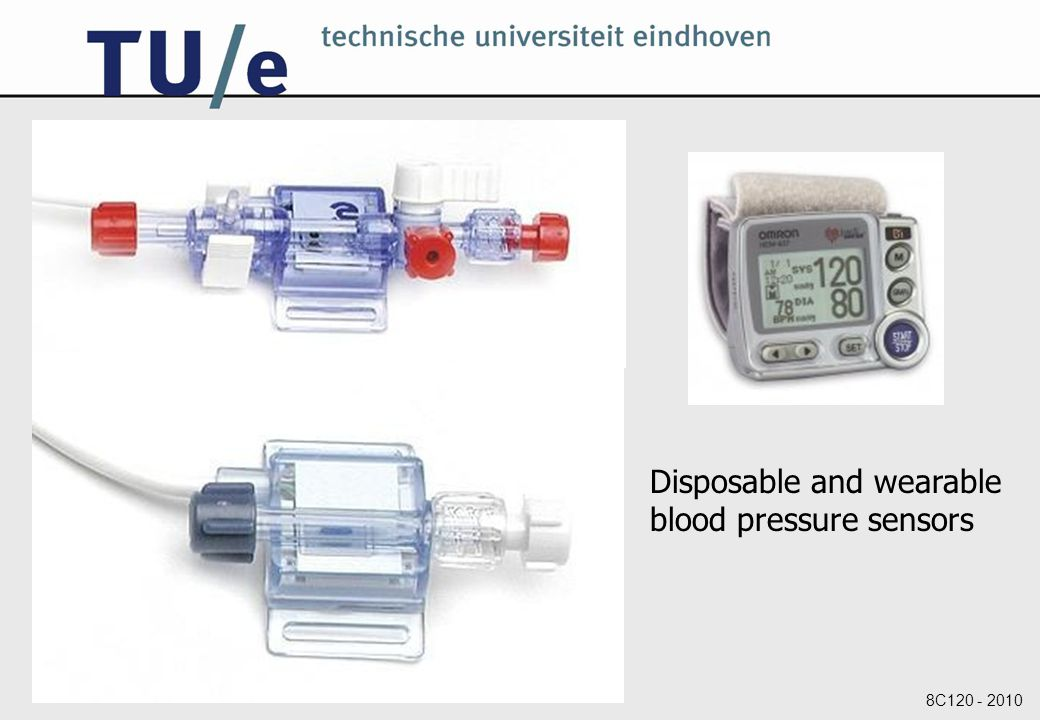 8C120 - 2010 Disposable and wearable blood pressure sensors