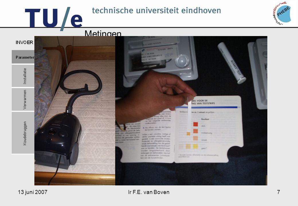 13 juni 2007Ir F.E. van Boven7 Metingen