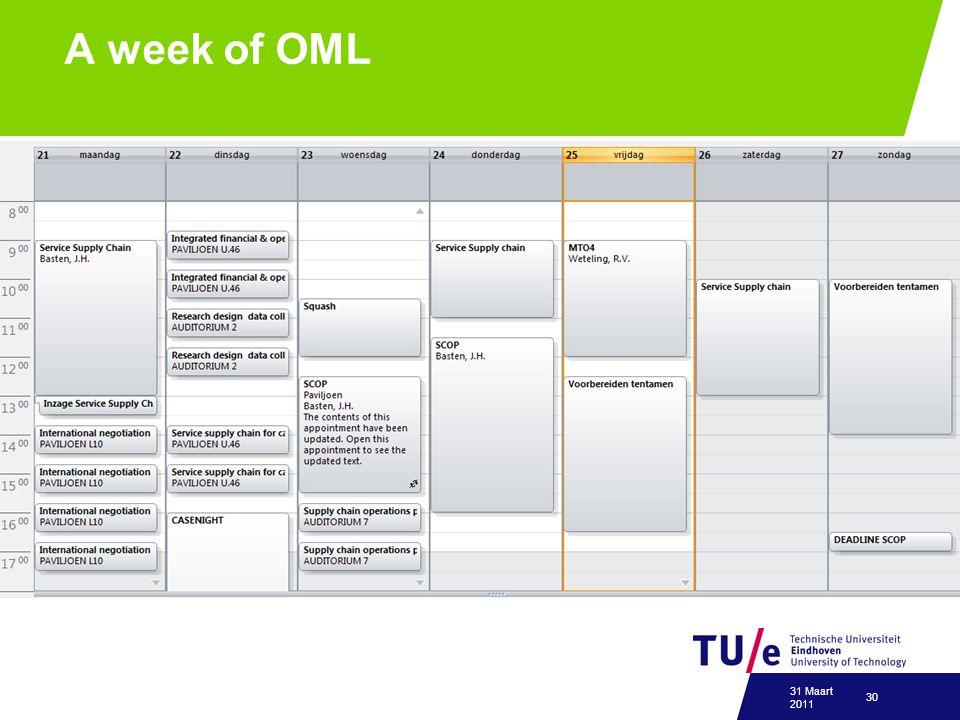 A week of OML 31 Maart 2011 30