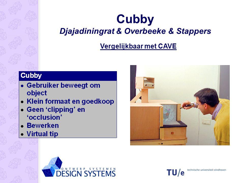 Cubby Djajadiningrat & Overbeeke & Stappers Vergelijkbaar met CAVE