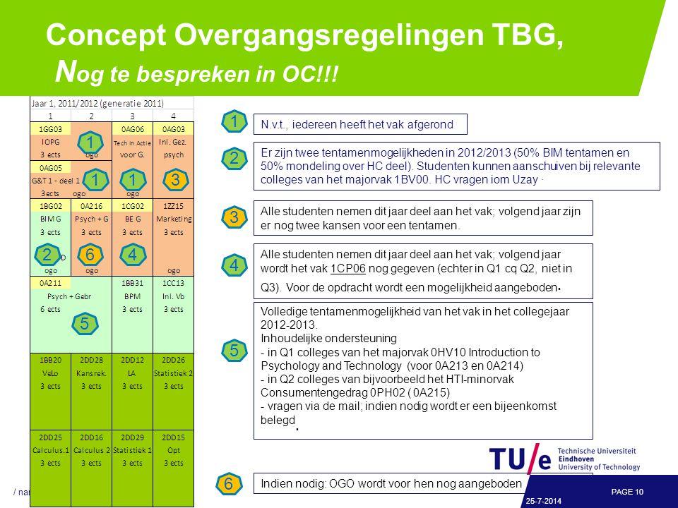 Concept Overgangsregelingen TBG, N og te bespreken in OC!!.