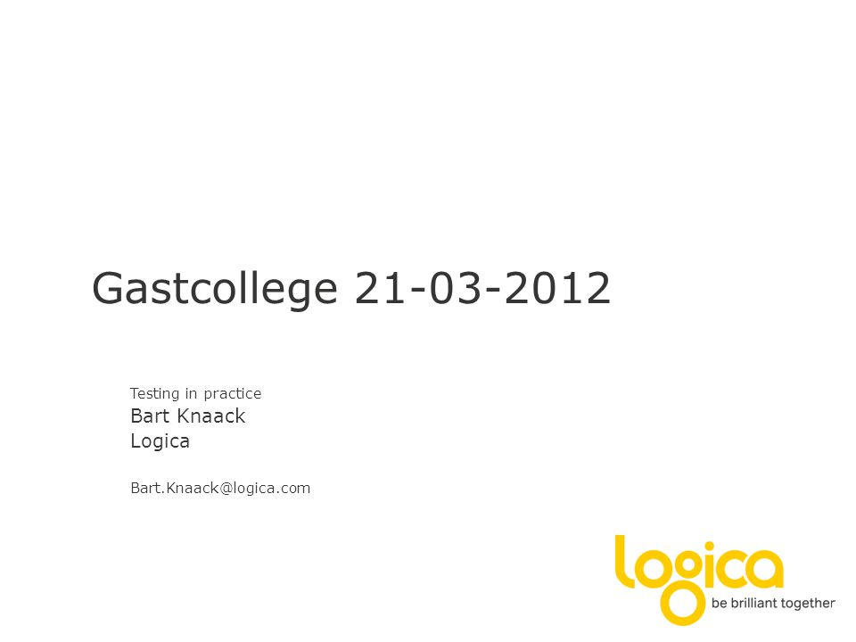 © Logica 2011.All rights reserved Who am I.