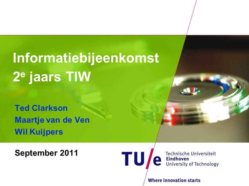 Informatiebijeenkomst 2 e jaars TIW September 2011 Ted Clarkson Maartje van de Ven Wil Kuijpers