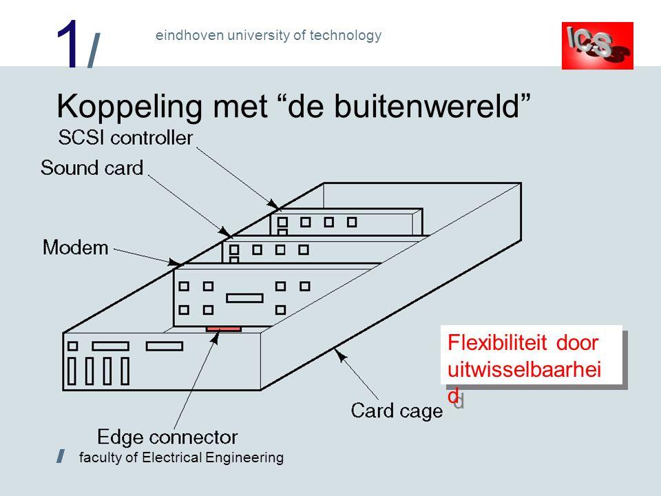 1/1/ / faculty of Electrical Engineering eindhoven university of technology Koppeling met de buitenwereld Flexibiliteit door uitwisselbaarhei d
