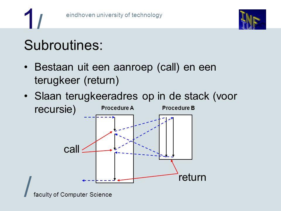1/1/ / faculty of Computer Science eindhoven university of technology Voorbeeld met recursie: n.